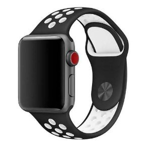 Pulseira esportiva para Apple Watch preto com branco -38/40 mm - 99Capas