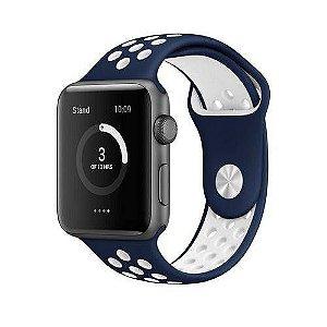 Pulseira esportiva para Apple Watch azul com branco -38/40 mm - 99Capas
