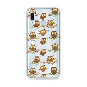 Capa para Galaxy A30 - Corujinhas