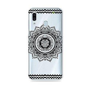 Capa para Galaxy A30 - Mandala Preta