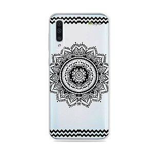Capa para Galaxy A50 - Mandala Preta