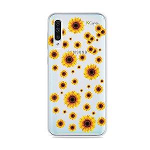 Capa para Galaxy A50 - Girassóis
