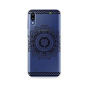 Capa para Galaxy M10 - Mandala Preta