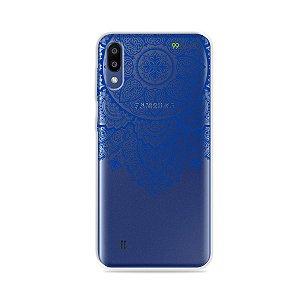 Capa para Galaxy M10 - Mandala Azul