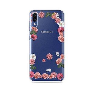 Capa para Galaxy M10 - Pink Roses