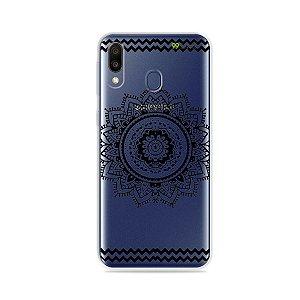 Capa para Galaxy M20 - Mandala Preta