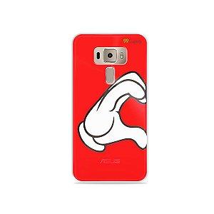 Capa para Asus Zenfone 3 - 5.2 Polegadas - Coração Mickey