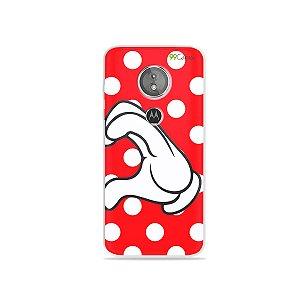 Capa para Moto E5 - Coração Minnie