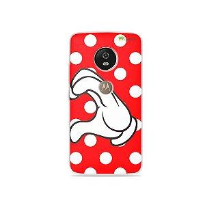 Capa para Moto G5 - Coração Minnie