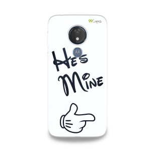 Capa para Moto G7 Power - He's Mine