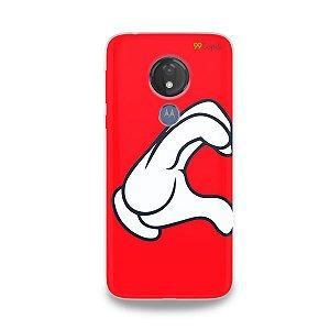 Capa para Moto G7 Power - Coração Mickey