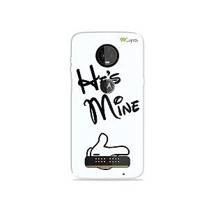 Capa para Moto Z3 Play - He's Mine