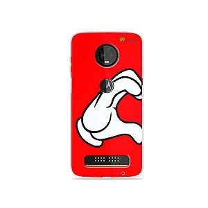 Capa para Moto Z3 Play - Coração Mickey