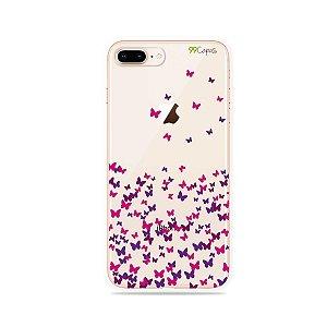 Capa para iPhone 8 Plus - Borboletas Flutuantes