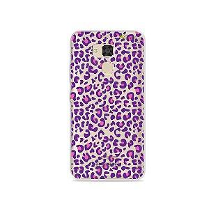 Capa para Asus Zenfone 3 Max - 5.2 Polegadas - Animal Print Purple