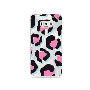 Capa para Asus Zenfone 3 - 5.5 Polegadas - Animal Print Black & Pink