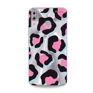 Capa para Asus Zenfone 5 e 5Z - Animal Print Black & Pink