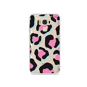 Capa para Asus Zenfone 3 Max - 5.5 Polegadas - Animal Print Black & Pink