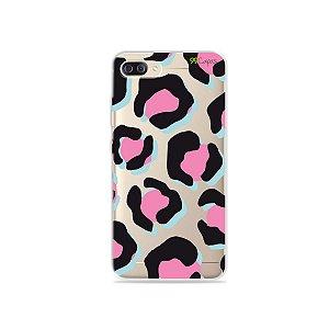 Capa para Zenfone 4 Max - Animal Print Black & Pink