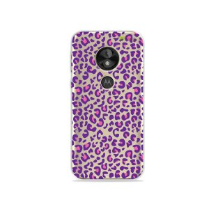 Capa para Moto E5 Play - Animal Print Purple