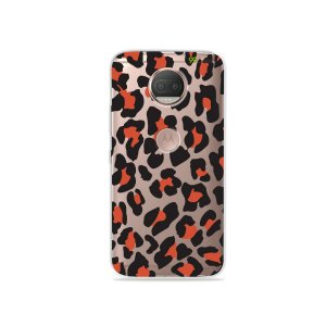 Capa para Moto G5S Plus - Animal Print Red