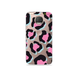 Capa para Moto G5S Plus - Animal Print Black & Pink