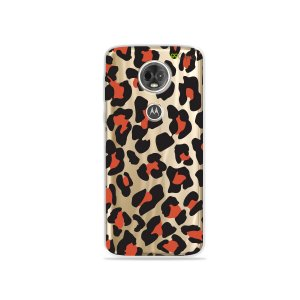 Capa para Moto E5 Plus - Animal Print Red