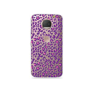 Capa para Moto G5S Plus - Animal Print Purple