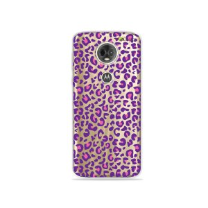 Capa para Moto E5 Plus - Animal Print Purple