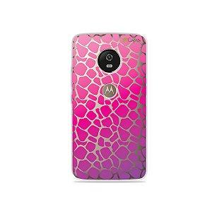 Capa para Moto G5 - Animal Print Pink