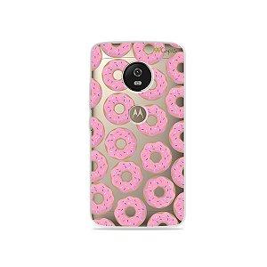Capa para Moto G5 - Donuts