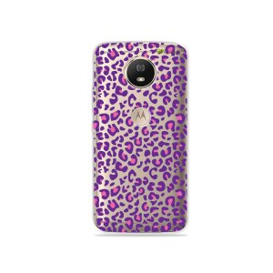 Capa para Moto G5S - Animal Print Purple