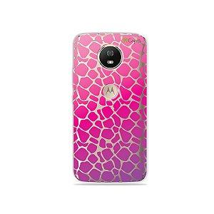 Capa para Moto G5S - Animal Print Pink