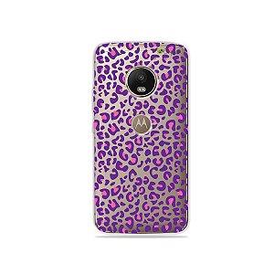 Capa para Moto G5 Plus - Animal Print Purple