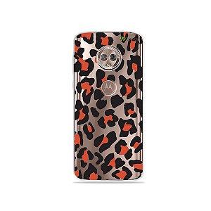 Capa para Moto G6 - Animal Print Red