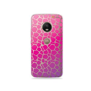 Capa para Moto G5 Plus - Animal Print Pink