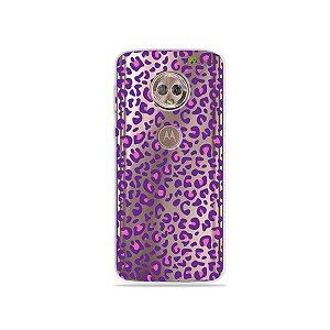 Capa para Moto G6 - Animal Print Purple