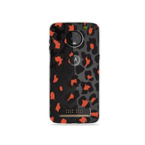 Capa para Moto Z3 Play - Animal Print Red