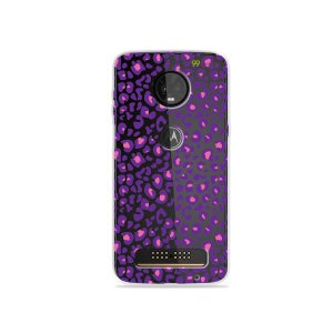 Capa para Moto Z3 Play - Animal Print Purple
