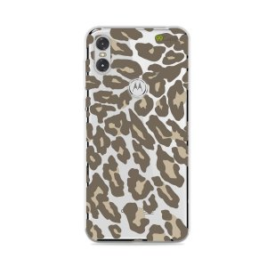 Capa para Moto One - Animal Print Nude