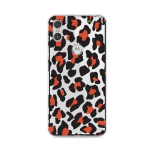 Capa para Moto One - Animal Print Red