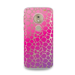 Capa para Moto G7 Play - Animal Print Pink