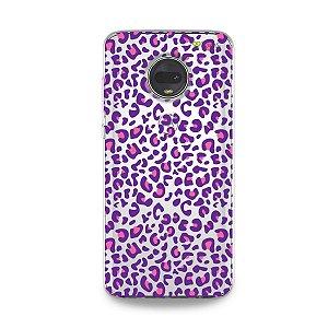Capa para Moto G7 - Animal Print Purple