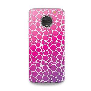 Capa para Moto G7 - Animal Print Pink