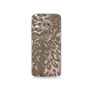 Capa para Moto G6 Plus - Animal Print Nude