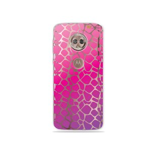 Capa para Moto G6 Plus - Animal Print Pink