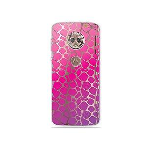 Capa para Moto G6 Plus - Animal Print Pink