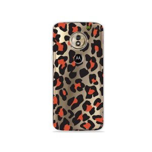 Capa para Moto G6 Play - Animal Print Red