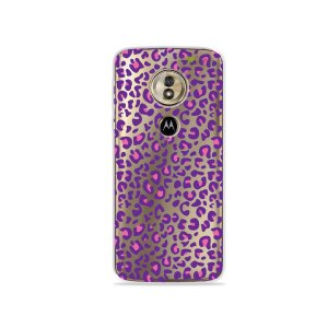 Capa para Moto G6 Play - Animal Print Purple