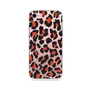 Capa para iPhone 7 - Animal Print Red